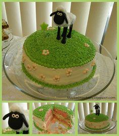 Shaun the Sheep Birthday cake.