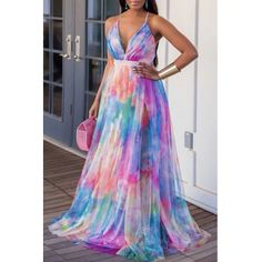 Tie Dye Maxi, Tie Dye Dress, Dress Outfits, Casual Dresses, Fashion Dresses, Red Fashion, African Fashion, African Maxi Dresses, Ankara Maxi Dress
