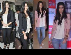 diana penty wins this one. love the combination of the blazer with the jean. so fresh !