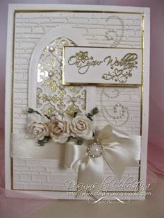 Cream Wedding Card | Flowers, Ribbons and Pearls | Bloglovin'