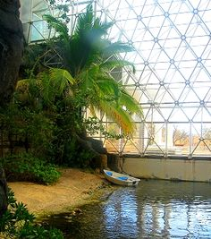 Biosphere 2: each dome contains a different environment that can be tested against climate and weather changes! It is totally WICKED!!!!