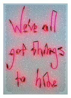 Rebecca Mason, We've All Got Things To Hide (Confessions) @artsy