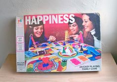 1972 Milton Bradley Happiness Board Game