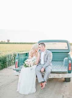 Soft & Natural Wedding Inspiration in a Wheat Field - Inspired By This