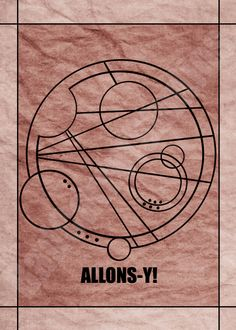 "The word ""Allons-y!"" in Gallifreyan from the BBC TV show Doctor Who; art print available through Bad Carrot Studios Etsy store! Available in standard photo frame size: 5x7 Professionally made on glossy photo paper, and not from home printers.(watermark does not appear on artwork)"