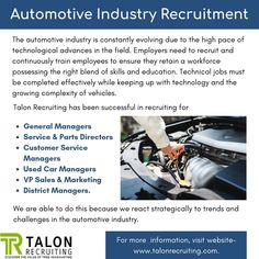 Automotive Industry is constantly evolving due to technological advances. Talon Recruiting is one of the best Automotive Industry Headhunters in Canada.