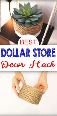 DIY Dollar Store crafts that you can make in under 5 minutes! Cute Dollar Store hacks that will make your home look amazing. Learn how to make cute decor from Dollar Store products. These DIY dollar store hacks will make you look like Martha Stewart. Dollar Store Hacks, Dollar Store Gifts, Dollar Stores, Diy Crafts Useful, Diy Crafts For Gifts, Decor Crafts, Diy Room Decor, Creative Crafts, Kids Crafts