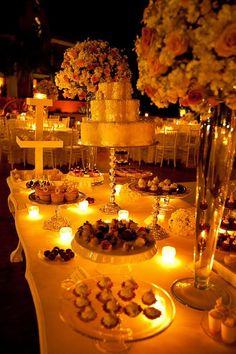 Mesa de dulces para bodas clásicas-elegantes / Classic elegant wedding candy bar #Wedding #Boda #Yucatán #Hacienda