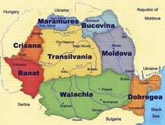 The map of Jewish Heritage Tour of Romania