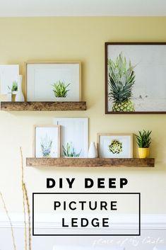 DIY DEEP PICTURE LEDGE