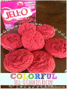 Colorful Jell-O Cookies Recipe. I added a little bit of water because they were a bit dry and rolled them in colored sugar before baking and they turned out good. kind of like a flavored, colored butter cookie. Jello Recipes, Easy Cookie Recipes, Best Dessert Recipes, Sweet Recipes, Recipies, Bar Recipes, Amazing Recipes, Drink Recipes, Snack Recipes