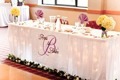 Diy, Monogram, Table runner, Sweetheart table,