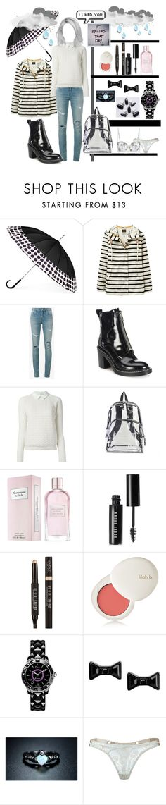 """RAINY"" by siririachi ❤ liked on Polyvore featuring ShedRain, Joules, Yves Saint Laurent, rag & bone, Tory Burch, International, Abercrombie & Fitch, Bobbi Brown Cosmetics, Eyeko and lilah b."