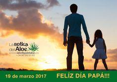Día del Padre - Feliz Día Papá - La Botiga del Aloe. En este Día del Padre, desde La Botiga del Aloe queremos felicitar a todos los padres por su amor incondicional, su fuerza y su apoyo físico y moral en todos los aspectos de nuestras vidas, desde la más tierna infancia. Gracias a ellos somos lo que somos. Un abrazo gigante de corazón a corazón! Feliz Día, Papá!!!!