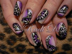 Flower nail art  with tutorial