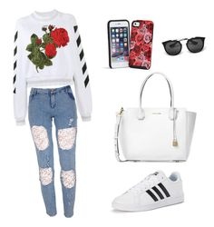 """""""Informal Style"""" by antoberneche on Polyvore featuring Off-White, adidas, Vera Bradley, Prada and Michael Kors"""