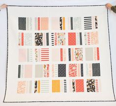 Peaches & Cream Quilt Tutorial - Simple Simon and Company Rile Blake Apricot and Persimmon fabric - Layer cake