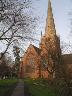 St Alphege's Church, Solihull, England.