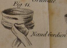 """le Nœud Gordien H. le Blanc, Esq.: """"L'Art de mettre sa cravate"""" (1827)"""