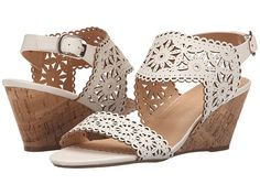 Love these must have  summer sandals, XOXO Shamira white cut out demi wedges. These are so elegant, perfect heels for a baby shower or a bridal shower shoes!