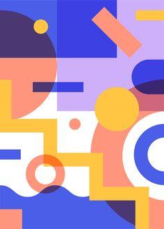 Graphic Design Pattern, Graphic Design Illustration, Graphic Design Inspiration, Pattern Art, Graphic Art, Geometric Shapes Art, Abstract Geometric Art, Abstract Shapes, Shape Design