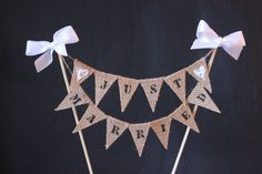 What a lovely way to announce you have tied the knot! Add it to the top of your cake or just sit the skewers in some mason jars as a decoration. The mini