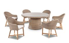 Bay Gallery Furniture Store - Plantation 6 with Coastal Outdoor Wicker Dining Chairs , $1,899.00 (http://www.baygallery.com.au/whats-new/plantation-6-with-coastal-outdoor-wicker-dining-chairs/)