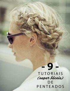 9 tutoriais super fáceis de penteados
