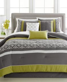 Lawrence 7-Pc. California King Comforter Set - Bed in a Bag - Bed & Bath - Macy's