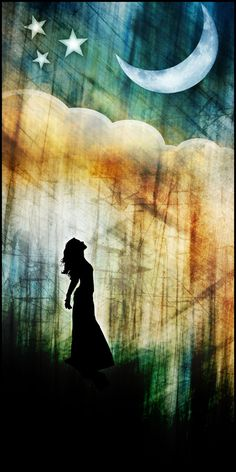 Even when she visits us...she still watches from above.  ✯ Moonlight Shadow .. by `kuschelirmel✯
