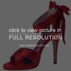 red bridesmaids shoes - Google Search