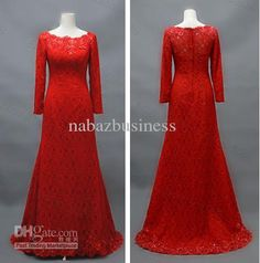 Wholesale Modest Dark Red Long Sleeves Women Formal Evening Gown Mother Of The Bride Dress, Free shipping, $117.6-134.4/Piece | DHgate