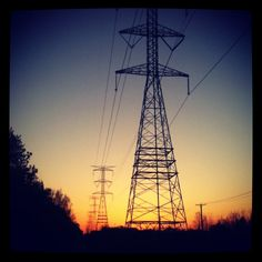 who knew power lines could be so pretty?