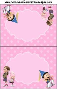 Despicable Me: Free Printable Party Invitations.