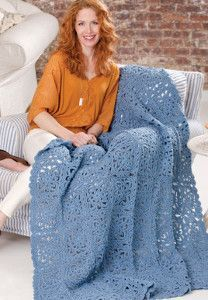 Sky Blue Lace Crochet Pattern | AllFreeCrochetAfghanPatterns.com