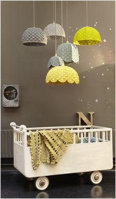 Amazing+design+crochet | Beautify Your Baby's Nursery with Crochet Lampshades