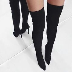 HOST PICK Over The Knee Boots! Never worn | Sultry Material | STRETCHY | True to Size | about 4.5-5in. | Comes with pretty pink storage bags! $120 through POSH, $100 via ️️. Shoes Over the Knee Boots