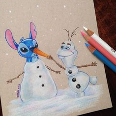 Stitch Invades Various Disney Movies In These Drawings