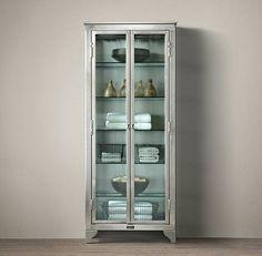 Vintage-style laboratory cabinet
