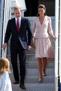 Prince William and Kate Middleton touch down in Adelaide, Australia