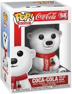 Wrapped in his Coca Cola scarf with a bottle of Coke in his hand… er… paw. The Coca-Cola Polar Bear Pop! He sits wrapped in his Coca Cola scarf with a bottle of Coke in his paw. Funko Pop Toys, Figurines Funko Pop, Figurine Pop, Funko Pop Vinyl, History Icon, Simpsons Treehouse Of Horror, Coca Cola Polar Bear, Coca Cola Christmas, Pop Ads