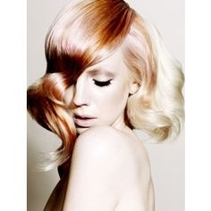 Redish/gold/copper hair with hints of pink blondehairshades Rose Blonde, Blonde Waves, Blonde Color, Blonde Pink, Funky Hair Colors, Hair Colour, Creative Hair Color, Toni And Guy, Style Finder