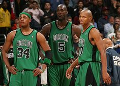 I will be incredibly sad when Garnett and Ray Ray are no longer on the team...but luckily Paul Pierce will probably retire in green! Woo!