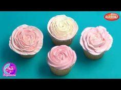 Como Hacer Rosas con Buttercream para Decorar Cupcakes - 4 Rosas Diferentes Utilizando 2 Boquillas - YouTube