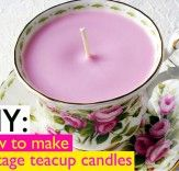 Vintage teacup candles - a great inexpensive Xmas gift using up-cycled cups