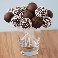 I decided not to have a full-size cake instead rather have a birthday cake flavored shot-cake however, maybe we can do cake pops too