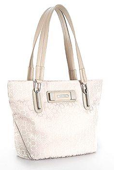 531729f459599 Calvin Klein Womens City Logo Shopper Tote Handbag (Ash) from The Fashions  Place