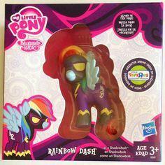 My Little Pony Friendship is Magic Rainbow Dash as a Shadowbolt for the Nightmare Night Festival Collector Series figure with glow in the dark accents, a Toys r Us Exclusive, Rainbow Dash, My Little Pony Rainbow, My Little Pony Set, My Little Pony Dolls, Hasbro My Little Pony, Nightmare Night, Nightmare Moon, Kids Store, Toy Store