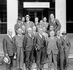 Colonial Williamsburg might have faltered without the determination of Kenneth Chorley, standing tall at the right end of the back row in this 1930 portrait of the Williamsburg Holding Company and its brain trust. http://bit.ly/1PMCa6n -- Mark St. John Erickson