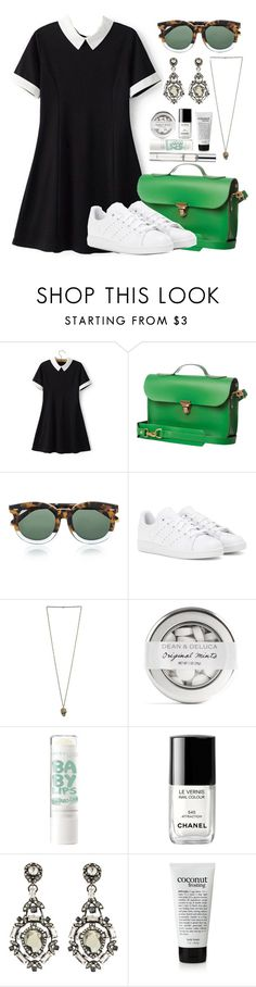 """""""Preppy School"""" by may-calista ❤ liked on Polyvore featuring Chicsense, N'Damus, Karen Walker, adidas, Chanel, Lanvin, philosophy, Chloé, outfit and school"""